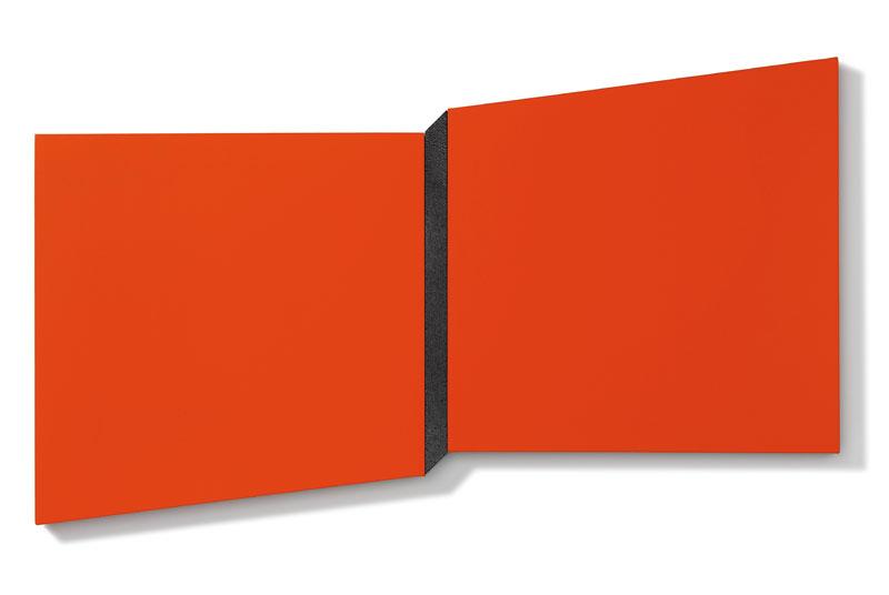 Composizione – acrilico, alluminio e resina su tela 90x165x6cm